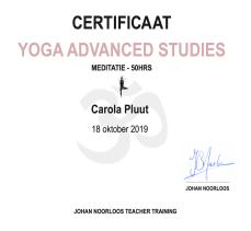 Certificaat meditatie | YogabyCarola